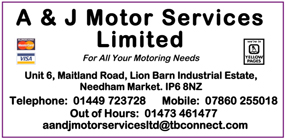 A and J Motors advert