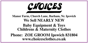 Choices Clothing advert