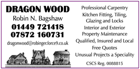 Dragon Carpentry and General Building advert