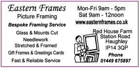 Eastern Frames advert