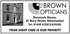 FG Brown Opticians advert