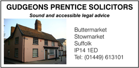 Gudgeons Prentice Solicitors advert