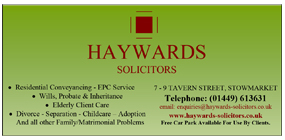 Haywards Solicitors advert