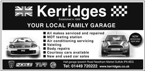 Kerridges Garage advert
