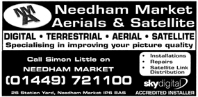 Needham Market Aerials and Satellite advert